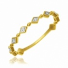 demi alliance en or jaune rhodie et diamants