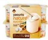 yaourts nature sucres au sucre de cannec