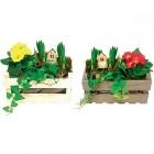 composition fleurie sa cagette en bois
