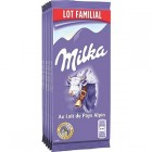 tablettes de chocolat au lait milka