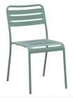 chaise de jardin en acier cafe agave