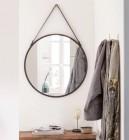 miroir rond barbier noir diam55 cm