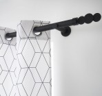 tringle a rideau extensible design noir mat inspire