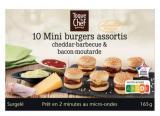 10 mini burgers