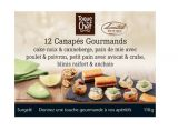 12 canapes gourmands