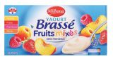16 yaourts brasses aux fruits mixes