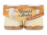 2 yaourts pur brebis sur lit de chataignes