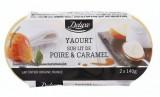 photo 2 yaourts sur lit de poire-caramel