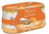 2 yaourts sur lit de mangue-passion
