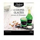 4 coupes glacees au marc de champagne