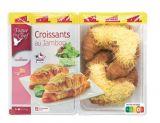 4 croissants jambon fromage