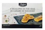 4 escalopes de foie gras de canard du sud-ouest