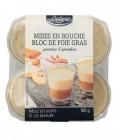 4 mises en bouche bloc de foie gras - pommes et speculoos