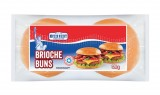 4 pains pour hamburger brioches