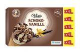 8 cones chocolat-vanille