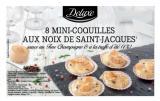8 mini coquilles aux noix de saint-jacques