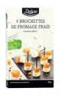 9 brochettes de fromage frais au saumon fume