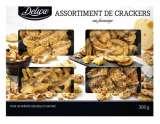 assortiment de crackers au fromage