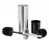 brosse et porte-brosse wc ou porte-rouleaux de papier toilette en acier inoxydable