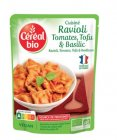 cereal bio ravioli tomates tofu et basilic