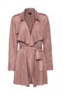 manteau ou veste en suedine