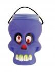 photo Seau tête de mort Halloween avec friandises