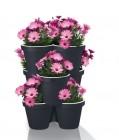 set de pots de fleurs empilables