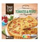 tarte aux tomates et pesto a la mozzarella
