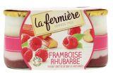 yaourts onctueux framboise-rhubarbe