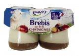yaourts pur brebis sur lit de chataignes