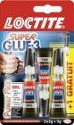 lot de 2 tubes de colle loctite superglue-3 power flex 3g