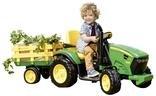 tracteur 12v avec remorque john deere peg perego