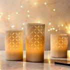 3 bougies a led entrelacs de lumiere