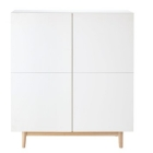 cabinet 2 portes blanc artic