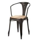 fauteuil en metal noir et manguier multipls