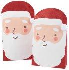 pochette cadeau pere noel en papier rouge et blanc x2