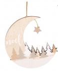 photo Suspension de Noël lune et forêt - Lot de 6