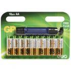 10 piles alcalines lr6