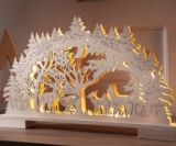 decoration de noel en bois a led
