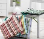 photo Galette de chaise réversible env. 40 x 40 cm