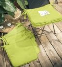 lot de 4 galettes de chaise env 38 x 38 x 2 cm