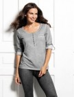 pull manches longues avec boutons