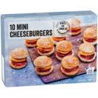 10 mini-cheeseburgers