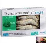 12 grosses crevettes tropicales crues asc1