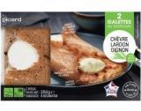 2 galettes chevre-lardon-oignon