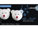 2 oursons glaces vanille chocolat