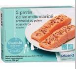 2 paves de saumon marinearomatise au poivre et au citron