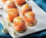 8 bouchees aperitives au saumon