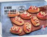 8 mini hot-dogs
