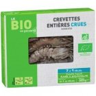 crevettes entieres crues bio 7 a 9 pieces
